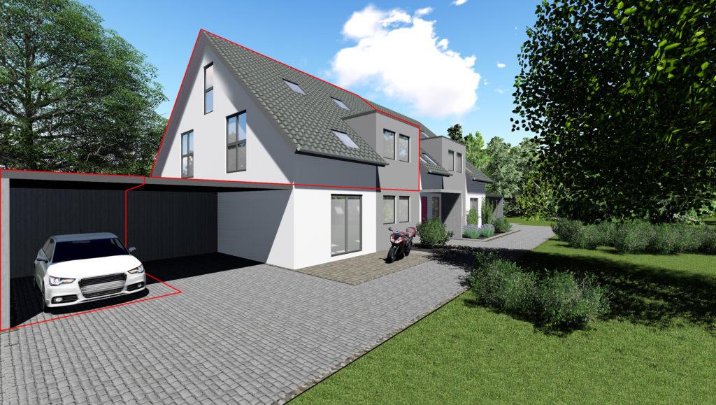 Whg. 3: Hochwertige OG Maisonette-Wohnung in Hude – ökologische & nachhaltige Bauweise in Südlage
